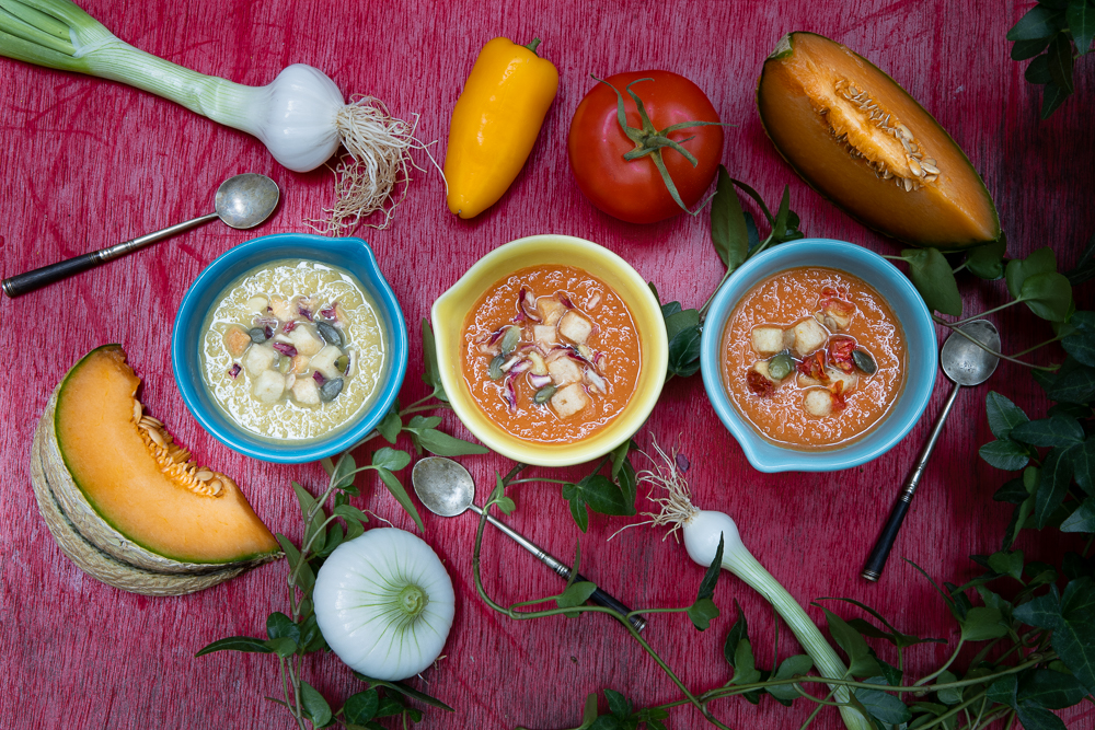 Gaspacho tomate et melon - photographie Youcookme